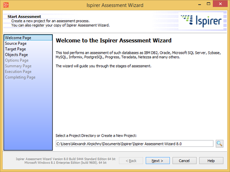 Migration Assessment Wizard